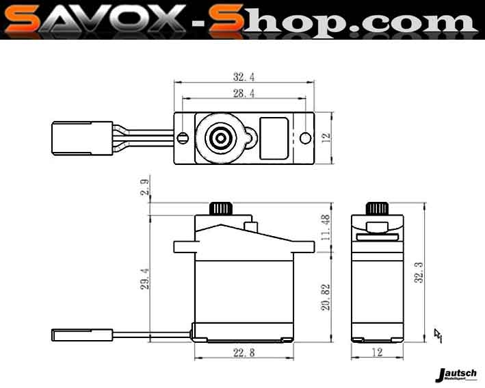 Savox SH-0255MG Servo